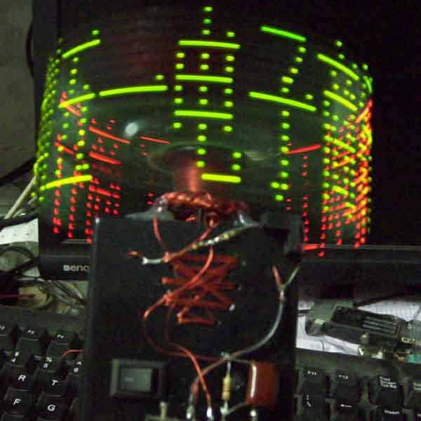 字旋转led点阵电路板