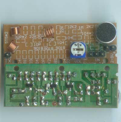 五一电子商品说明:《贴片无线话筒成品板