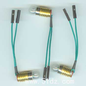 配实验板小电灯泡座 灯炮