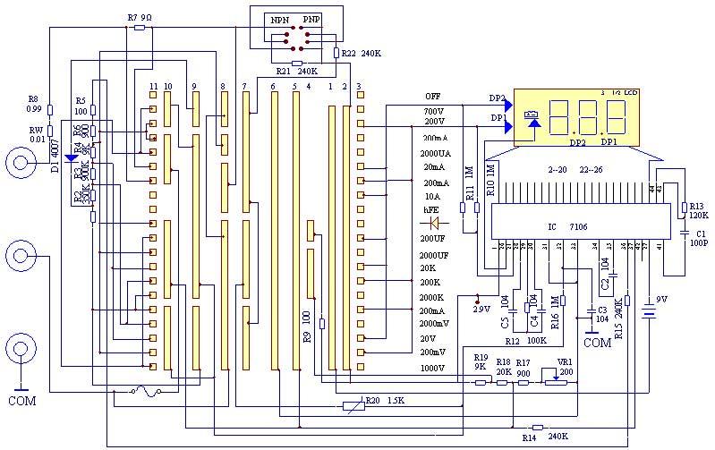 数字万用表和指针万用表是电子爱好者必备的仪表之一,如果大家是学