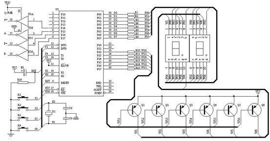 图3 单片机控制35by48s03型步进电机的电路原理图