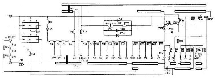 26款指针式,数字式万用表电路图集
