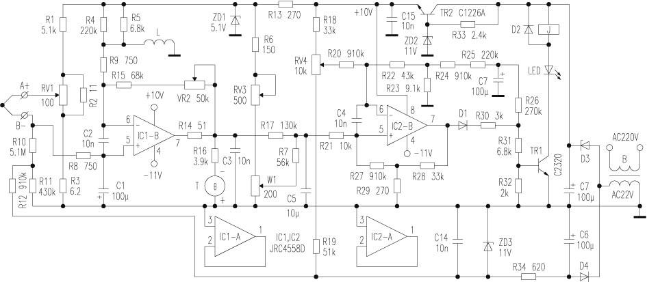 正负串联型稳压电路