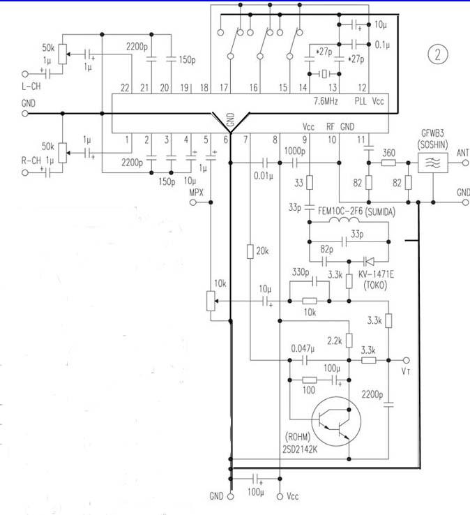 》—《小调频发射器电路