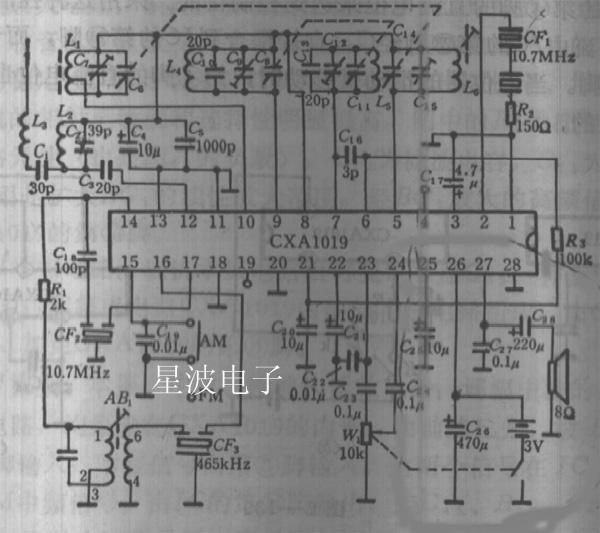 cxa1019(cxa1191)集成电路的应用;