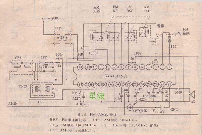 下图为集成块内部电路图